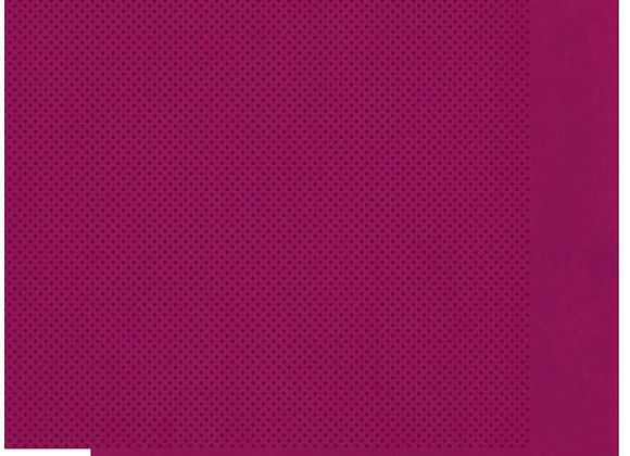 Mulberry Double Dots 12X12 2-Sided Cardstock Paper BoBunny