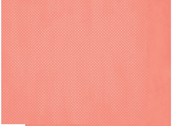 Coral Double Dots 12X12 2-Sided Cardstock Paper BoBunny