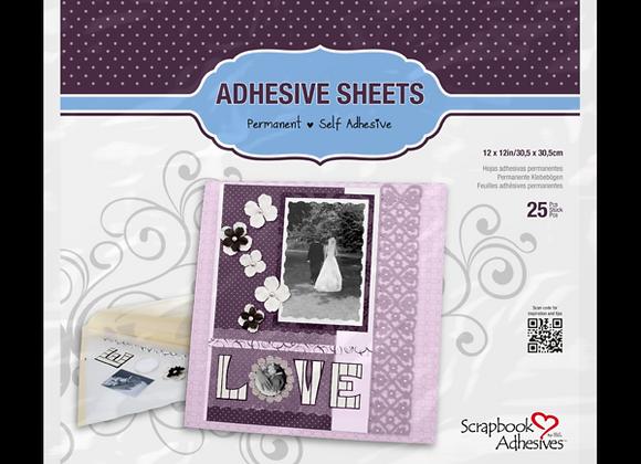 Adhesive Sheets 12X12 25 Sheets
