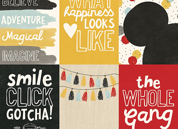 4X6 Vertical Elements Cards, 12X12 Scrapbook Paper, Say Cheese 3, Simple Stories