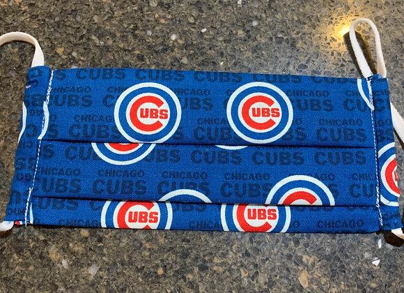 Chicago Cubs Mini Logo Cotton Fabric Mask