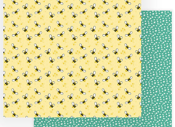 Tulla & Norbert Honey Bees 12x12 Patterned Paper