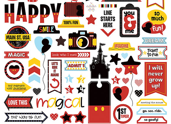 Another Day at the Park 12x12 Element Sticker Sheet
