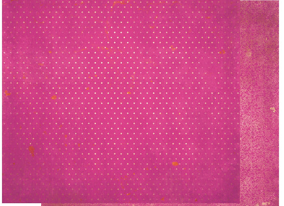 Pink Punch Double Dots 12X12 2-Sided Vintage Cardstock Paper BoBunny
