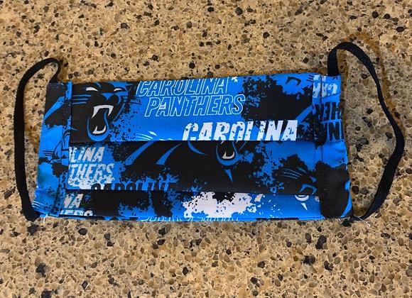 Carolina Panthers Distressed Cotton Fabric Mask