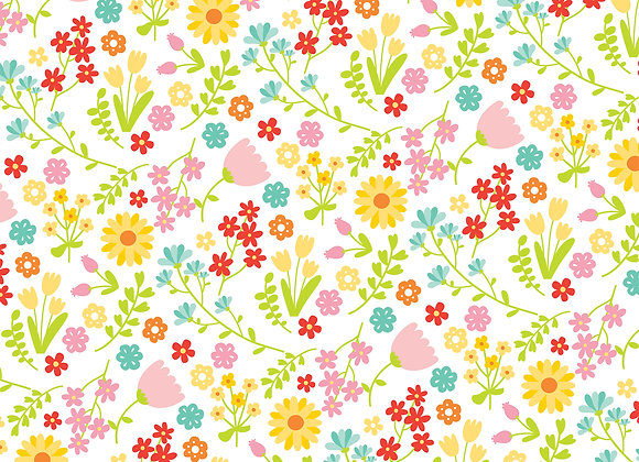 Floral Fun 12x12 Scrapbook Paper, Easter Wishes, Echo Park
