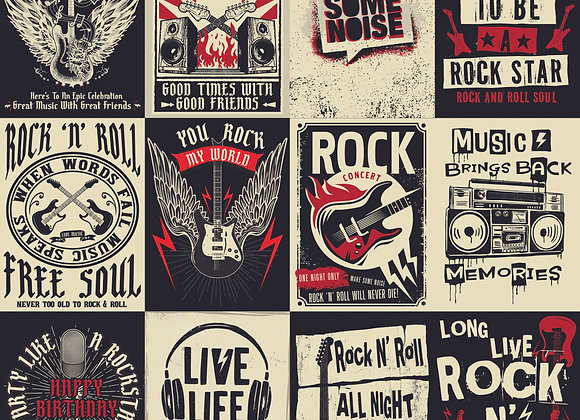 I Love Rock N Roll 12x12 Paper