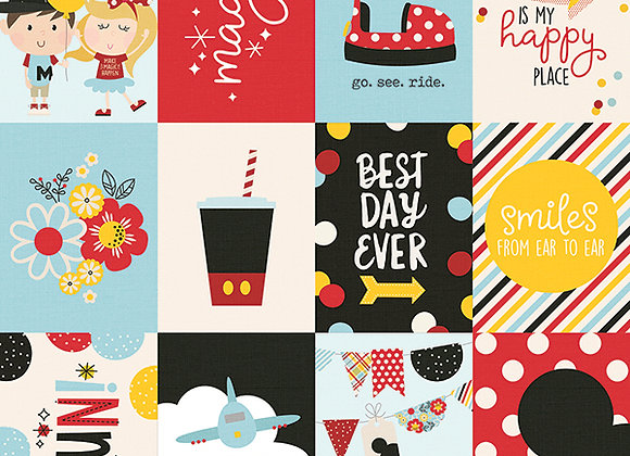 3X4 Elements 12X12 Designer Scrapbook Paper, Say Cheese 4, Simple Stories