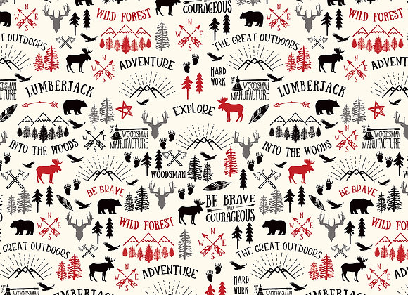 Great Outdoors, 12x12 Patterned Paper, Little Lumberjack