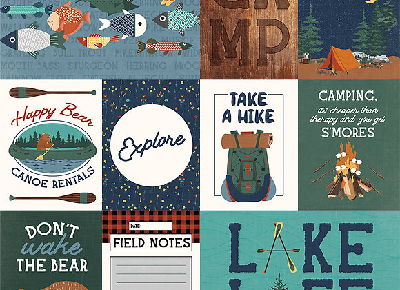 Camp Happy Bear - Explore 12x12 Patterned Paper