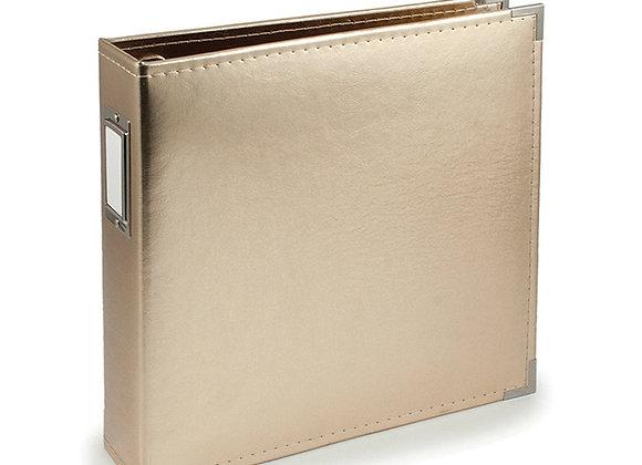 Gold 12x12 3 Ring Binder Scrapbook Album