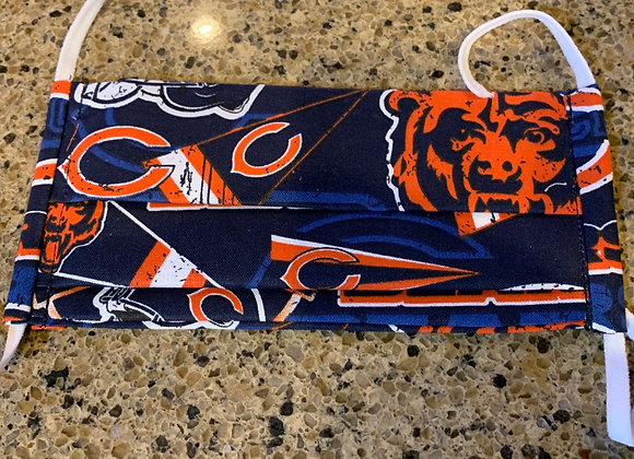 Chicago Bears Cotton Fabric Retro Flags Mask