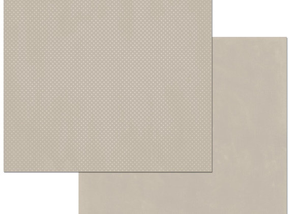Taupe Double Dots 12X12 2-Sided Cardstock Paper BoBunny