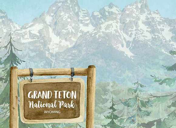 Grand Teton National Park 12x12
