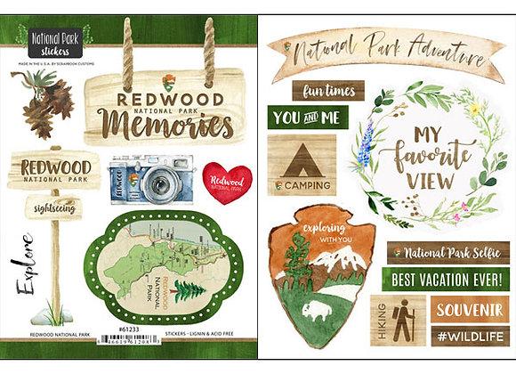 Redwood National Pk Sticker