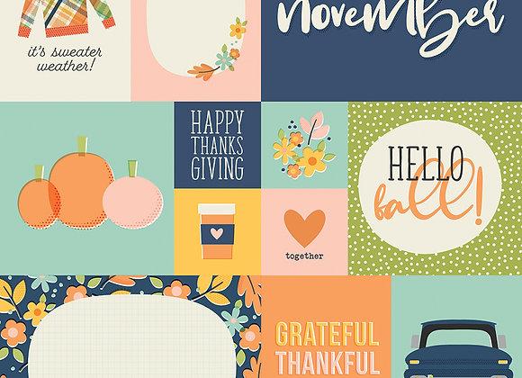 November 12x12 Designer Cardstock Paper Simple Stories 2020
