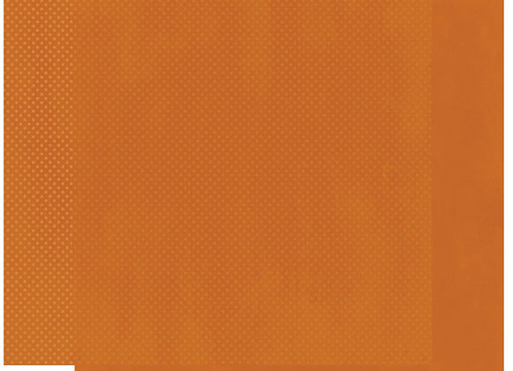 Burnt Orange Double Dots 12X12 2-Sided Cardstock Paper BoBunny