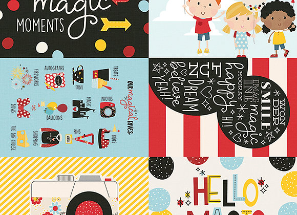 4X6 Elements 12X12 Designer Scrapbook Paper, Say Cheese 4, Simple Stories