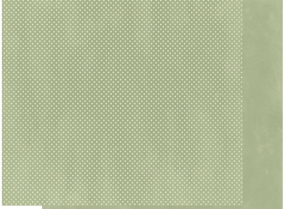 Sweet Pear Double Dots 12X12 2-Sided Cardstock Paper BoBunny