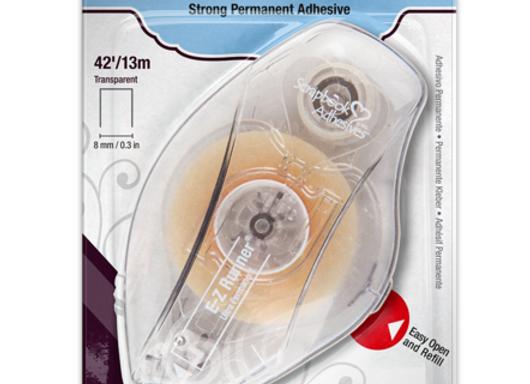 EZ Runner Ultra Permanent Adhesive Refillable Dispenser Scrapbook Adhesives