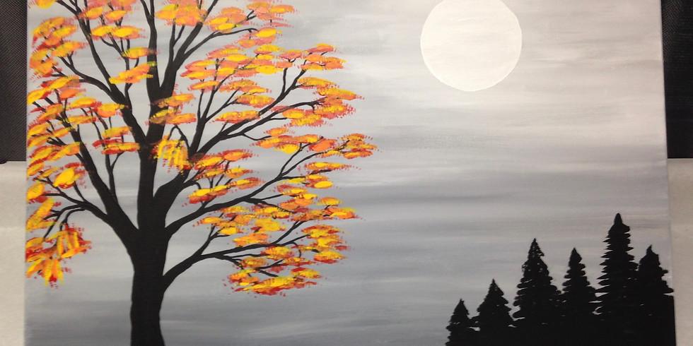 Moonlight Painting  September 30, 2018 Sunday Funday Event!