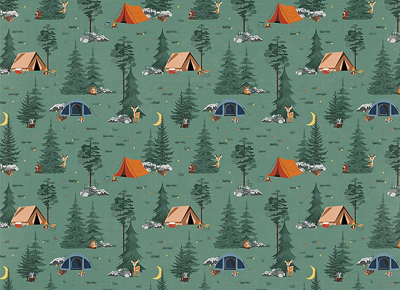 Camp Happy Bear - Under the Stars 12x12 Patterned Paper