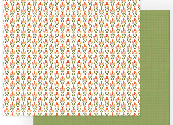 Tulla & Norbert Tip Toe Through The Tulips 12x12 Patterned Paper