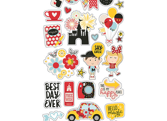 6X12 Chipboard Die Cut Stickers, Say Cheese 4, Simple Stories