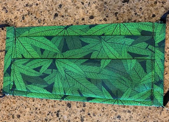 Marijuana Leaves Cotton Mask