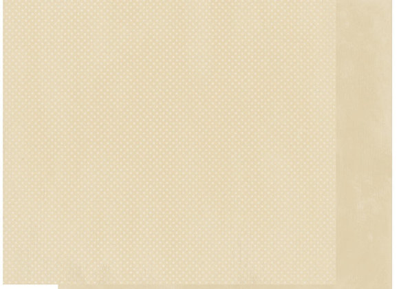 Almond Double Dots 12X12 2-Sided Cardstock Paper BoBunny