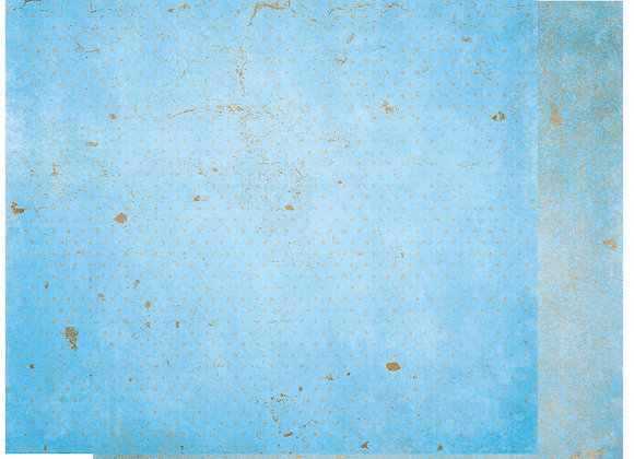 Powder Blue Double Dots 12X12 2-Sided Vintage Cardstock Paper BoBunny