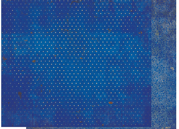 Blueberry Double Dots 12X12 2-Sided Vintage Cardstock Paper BoBunny
