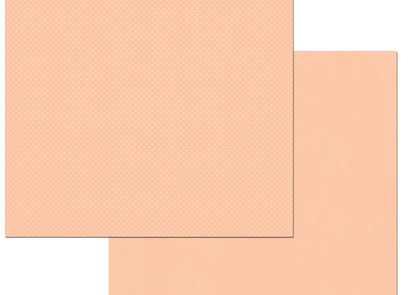 Peaches & Cream Double Dots 12X12 2-Sided Cardstock Paper BoBunny