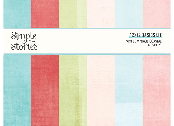 12x12 Basics Kit,  SV Coastal, NEW Simple Stories