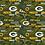 Thumbnail: Green Bay Packers Cotton Fabric Hometown Mask