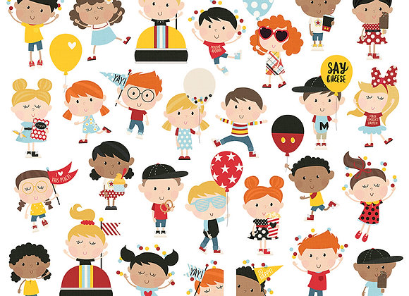 Happy Kids Bits & Pieces, Die Cut, Say Cheese 4, Simple Stories
