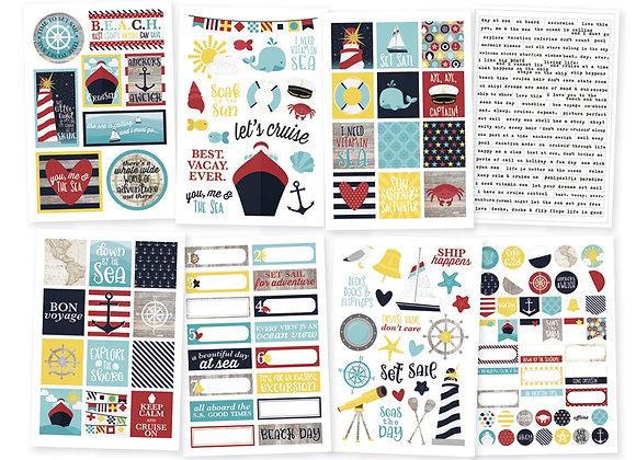 Cruisin' 4X6 Sticker Sheets, Simple Stories