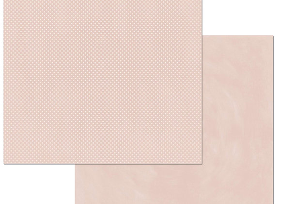 Dusty Rose Double Dots 12X12 2-Sided Cardstock Paper BoBunny
