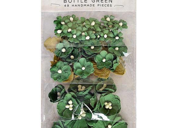 Bottle Green Botanical Potpourri Flower Embellishment