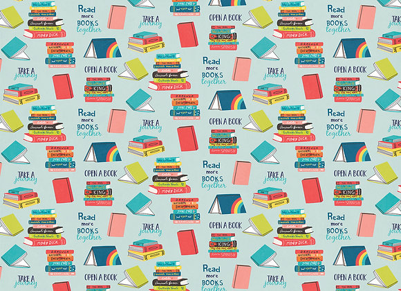 Read A Book 12x12 2-Sided Patterned Paper,  We Can Just Stay Home