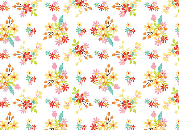 Easter Flowers 12x12 Scrapbook Paper, Easter Wishes, Echo Park