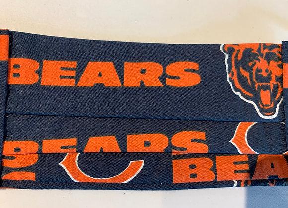 Chicago Bears Cotton Fabric Mascot Logo Mask