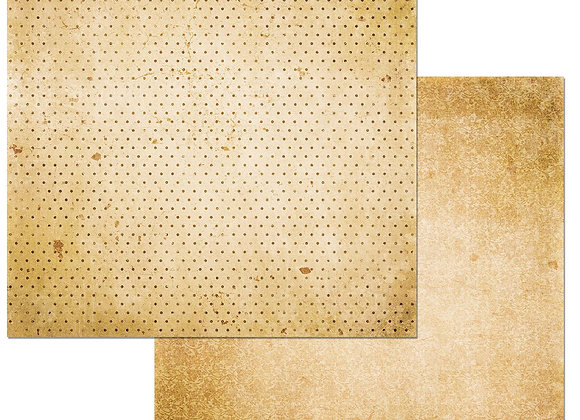 Chiffon Double Dots 12X12 2-Sided Vintage Cardstock Paper BoBunny