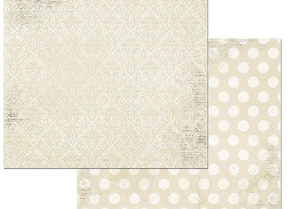 Frnch Vanilla Double Dots 12X12 2-Sided Cardstock Paper BoBunny BoBunny