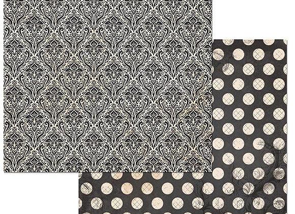 Licorice Double Dots 12X12 2-Sided Cardstock Paper BoBunny BoBunny
