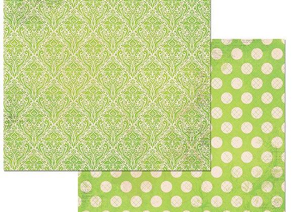 Kiwi Double Dots 12X12 2-Sided Cardstock Paper BoBunny BoBunny