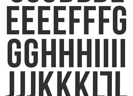 Black Foam Alphabet Stickers - Simple Stories