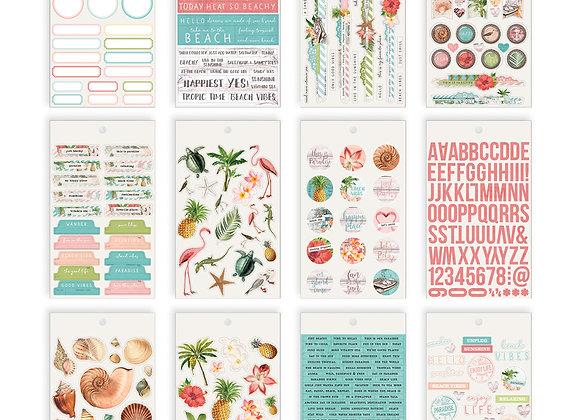 4x6 Sticker Book,  Simple Vintage Coastal, NEW Simple Stories