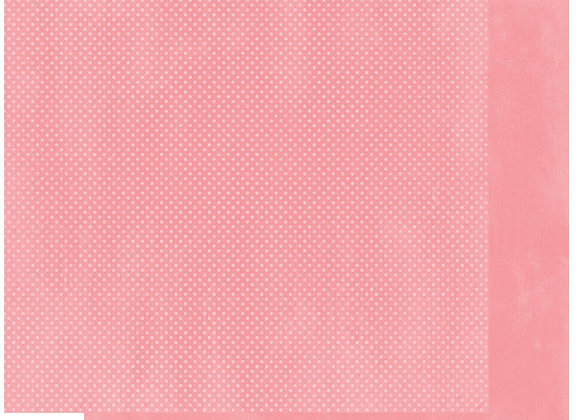 Flamingo Double Dots 12X12 2-Sided Cardstock Paper BoBunny