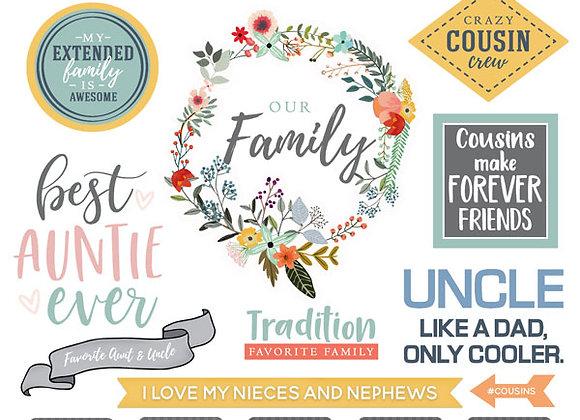 Family Extended 12x12 Sticker